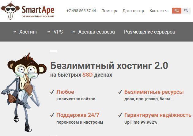 Обзор услуг хостинговой компании SmartApe