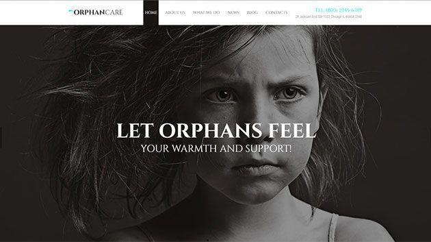 Адаптивный шаблон сайта Orphan Care